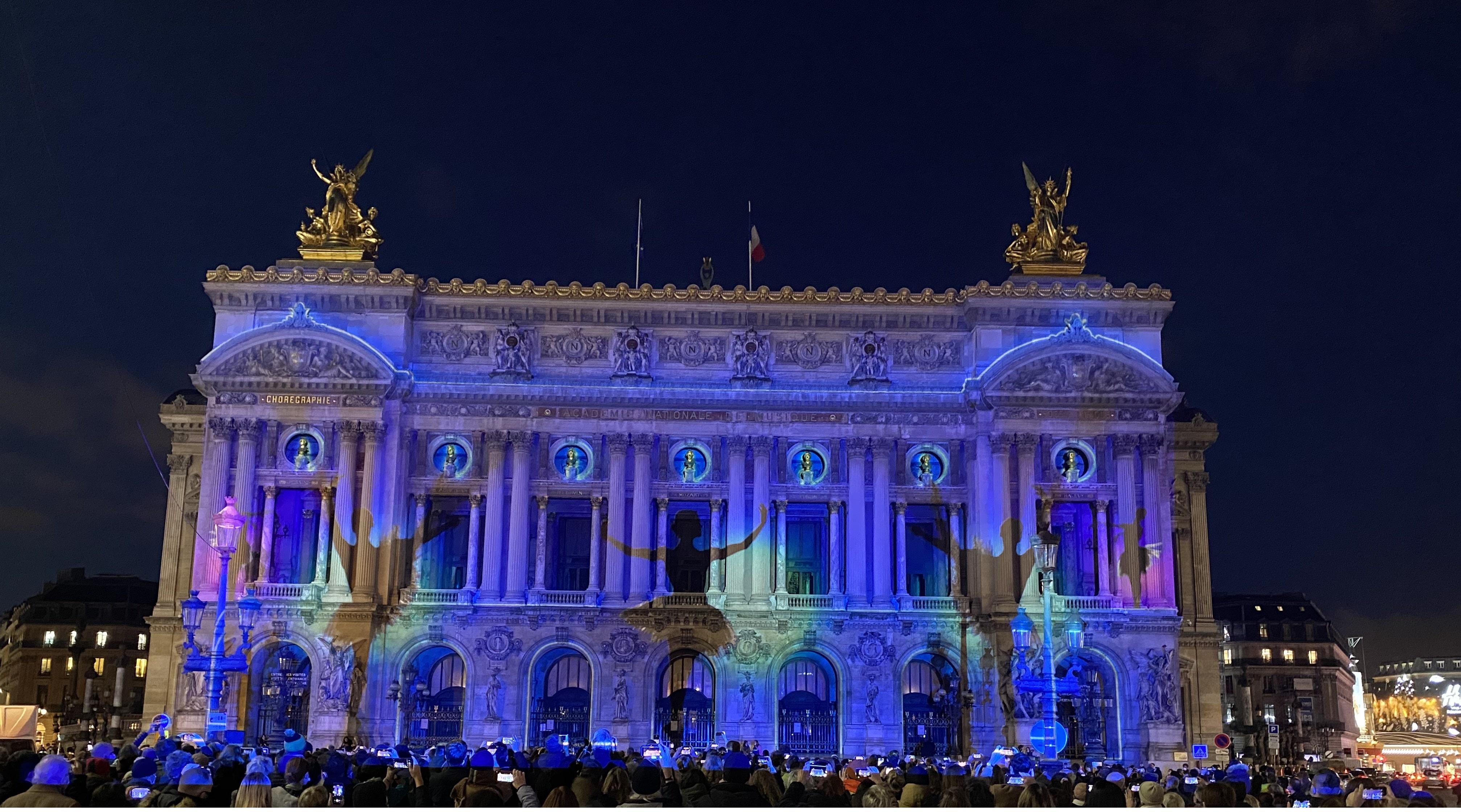 Mapping vidéo à l'Opéra Garnier